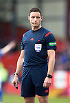 Aberdeen v St Johnstone…27.02.16   SPFL   Pittodrie, Aberdeen<br />Referee Steven McLean<br />Picture by Graeme Hart.<br />Copyright Perthshire Picture Agency<br />Tel: 01738 623350  Mobile: 07990 594431