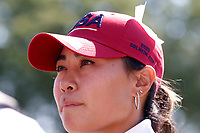 5th September 2021; Toledo, Ohio, USA;  Danielle Kang of Team USA does an interview after winning her match on the 18th hole during the morning Four-Ball Pairings during the Solheim Cup on September 5th
