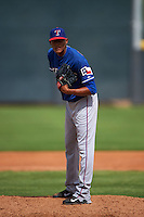 Texas Rangers pitcher Kelvin Vasquez (38) during an instructional league game against the Arizona Diamondbacks on October 10, 2015 at the Salt River Fields at Talking Stick in Scottsdale, Arizona.  (Mike Janes/Four Seam Images)
