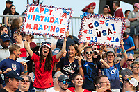 EAST HARTFORD, CT - JULY 5: Fans celebrate after a game between Mexico and USWNT at Rentschler Field on July 5, 2021 in East Hartford, Connecticut.