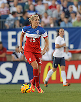 East Hartford, Connecticut - June 19, 2014: In an international friendly, United States Womens National Team (USWNT) (red/white/blue) tied France (white/blue), 2-2, at Rentschler Stadium.
