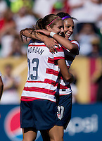 Alex Morgan, Sydney Leroux.  The USWNT defeated Costa Rica, 8-0, during a friendly match at Sahlen's Stadium in Rochester, NY.