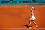 Maria Sharapova from Russia during her Madrid Open tennis tournament match against Caroline Garcia from France in Madrid, Spain. May 06, 2015. (ALTERPHOTOS/Victor Blanco)