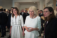 Pictured: Betty (Peristera) Baziana and the Duchess of Cornwall at Benaki Museum in Athens, Greece. Wednesday 09 May 2018 <br /> Re: Visit of the Duchess of Cornwall to the Benaki Museum as part of her official visit with HRH Prnce Charles to Athens, Greece.