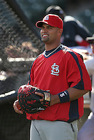 Albert Pujols of the St. Louis Cardinals vs. the Atlanta Braves March 16th, 2007 at Champion Stadium in Orlando, FL during Spring Training action.  Photo By Mike Janes/Four Seam Images