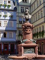 Denkmal Friedrich Stoltze, Frankfurt, Hessen, Deutschland, Europa<br /> Monument Friedrich Stoltze, Frankfurt, Hesse, Germany, Europe