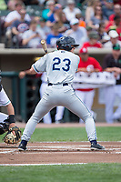 Cam Gibson (23) of the West Michigan Whitecaps at bat against the Dayton Dragons at Fifth Third Field on May 29, 2017 in Dayton, Ohio.  The Dragons defeated the Whitecaps 4-2.  (Brian Westerholt/Four Seam Images)