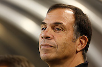 New York Red Bulls Sporting Director and Head Coach Bruce Arena at the bench prior to the start of the game. The New York Red Bulls defeated the Kansas City Wizards 2-1 during an MLS regular season match at Giants Stadium, East Rutherford, NJ, on October 13, 2007.
