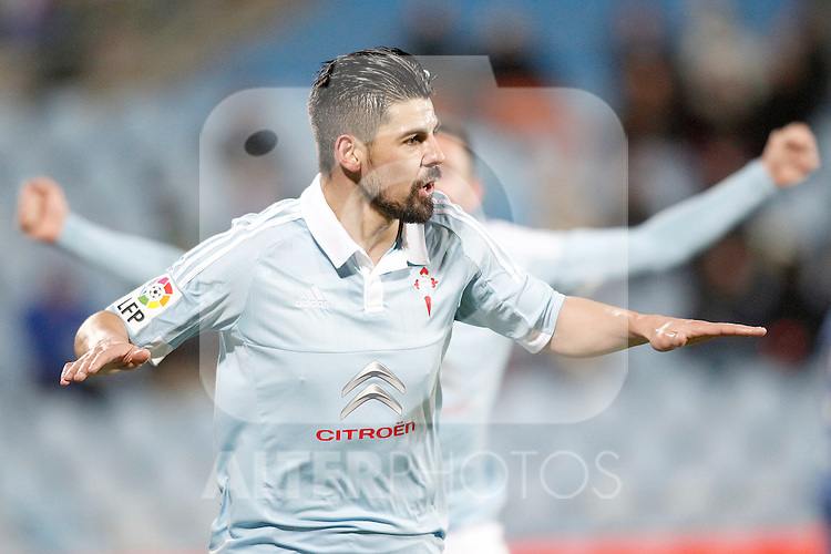 Celta de Vigo's Nolito celebratres goal during La Liga match. February 27,2016. (ALTERPHOTOS/Acero)