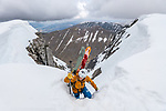Extreme skiers on the North Face of Ben Nevis by Alistair Todd