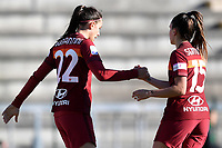 Agnese Bonfantini of AS Roma and Annamaria Serturini of AS Roma during the Women Italy cup round of 8 second leg match between AS Roma and Florentia S.G. at stadio delle tre fontane, Roma, February 14, 2021. Photo Andrea Staccioli / Insidefoto