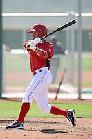 Kris Negron, Cincinnati Reds 2010 minor league spring training..Photo by:  Bill Mitchell/Four Seam Images.