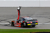 NASCAR XFINITY Series<br /> Kansas Lottery 300<br /> Kansas Speedway, Kansas City, KS USA<br /> Saturday 21 October 2017<br /> Christopher Bell, JBL Toyota Camry celebrates his win <br /> World Copyright: Russell LaBounty<br /> LAT Images