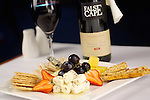 Kangaroo Island Cheese Platter with a bottle of False Cape Cab Sav red wine