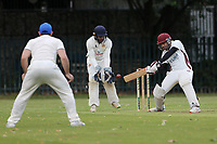 Faisal in batting action for Barking during Barking CC (batting) vs Hornchurch Athletic CC, Hamro Foundation Essex League Cricket at Mayesbrook Park on 31st July 2021