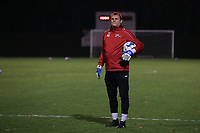 Goalkeeper coach Frank Verwimp of Woluwe pictured during the warm up before a female soccer game between FC Femina White Star Woluwe and Eendracht Aalst on the sixth matchday of the 2020 - 2021 season of Belgian Scooore Womens Super League , friday 6 th of November 2020  in Woluwe , Belgium . PHOTO SPORTPIX.BE | SPP | SEVIL OKTEM