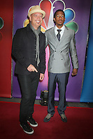 Howie Mandel and Nick Cannon at NBC's Upfront Presentation at Radio City Music Hall on May 14, 2012 in New York City. ©RW/MediaPunch Inc.