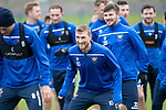 St Johnstone Training…25.10.19<br />David Wotherspoon pictured with Murray Davidson and Matty Kennedy during training this morning at McDiarmid Park ahead of tomorrows game against Hamilton Accies.<br />Picture by Graeme Hart.<br />Copyright Perthshire Picture Agency<br />Tel: 01738 623350  Mobile: 07990 594431
