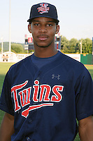 Elizabethton Twins center fielder Byron Buxton #41 before a game between the Greenville Astros and the Elizabethton Twins at Joe O'Brien Field on August 21, 2012 in Elizabethton, Tennessee. The Twins  defeated the Astros 7-5 (Tony Farlow/Four Seam Images).