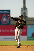 August 24 2008: Angel Cabrera of the Modesto Nuts during game against the Lancaster JetHawks at Clear Channel Stadium in Lancaster,CA.  Photo by Larry Goren/Four Seam Images