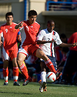 DaMarcus Beasley battle for the ball. The USA defeated China, 4-1, in an international friendly at Spartan Stadium, San Jose, CA on June 2, 2007.