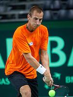 04-05-10, Zoetermeer, SilverDome, Tennis, Training Davis Cup, Thiemo de Bakker