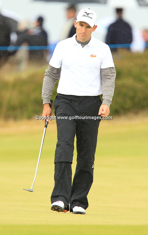 Ignacio Garrido ( ESP)  during the third round of the 2012 Aberdeen Asset Management Scottish Open being played over the links at Castle Stuart, Inverness, Scotland from 12th to 15th July 2012:  Stuart Adams www.golftourimages.com:14th July 2012