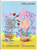 Fabrizio, CUTE ANIMALS, comic, paintings, ITFZ151386,#AC# illustrations pinturas ,everyday