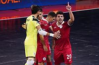9th October 2020; Palau Blaugrana, Barcelona, Catalonia, Spain; UEFA Futsal Champions League Finals; Mrucia FS versus MFK Tyumen;  Mrucia players celebrate after scoring their goal