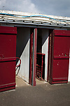 Arbroath 0 Edinburgh City 1, 15/03/2017. Gayfield Park, SPFL League 2. The turnstiles at Gayfield Park before Arbroath hosted Edinburgh City in an SPFL League 2 fixture. The newly-promoted side from the Capital were looking to secure their place in SPFL League 2 after promotion from the Lowland League the previous season. They won the match 1-0 with an injury time goal watched by 775 spectators to keep them 4 points clear of bottom spot with three further games to play. Photo by Colin McPherson.
