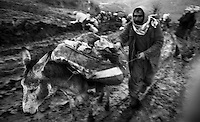 Hakkari - Kurdistan - Turckey/Iraq Border - April 1991.Consequences of Gulf War..Because of the cold and the few humanitarian aid, the escape of the Kurds in the mountains on the border between Iraq, Turkey and Iran turned into a humanitarian tragedy.  .Photo Livio Senigalliesi