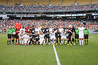 DC United and AC Milan pose for a group photo. DC United defeated AC. Milan 3-2 at RFK Stadium, Wednesday May 26, 2010.