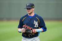 Ian Happ (5) of the Myrtle Beach Pelicans prior to the game against the Winston-Salem Dash at BB&T Ballpark on May 2, 2016 in Winston-Salem, North Carolina.  The Pelicans defeated the Dash 3-2 in 11 innings.  (Brian Westerholt/Four Seam Images)