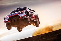 10th October 2020, Alghero, Sardinia, Italy; WRC Rally of Sardinia;   Loubet gets airborne