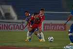 Lao FC vs Persib Bandung during the 2015 AFC Cup 2015 Group H match on April 15, 2015 at the National Sports Complex Stadium in Yangon, Laos. Photo by Visittiphong / World Sport Group