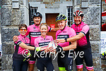 My Names Doddie Fundraiser: Rugby Club Cyclists fund raising  for My Names is Doddie Foundation pictured at Tarber Bridewell on Monday morning last. L-R : June McMunn, Steve Barhood, Alyson Lawrie, Jimmy Deenihan & Kieran Beaty.