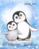 Kayomi, CUTE ANIMALS, paintings, PenguinsSideByside_M, USKH231,#ac# illustrations, pinturas ,everyday