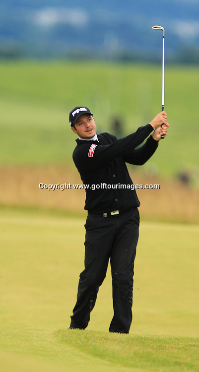 Julien Quesne during the second round of the 2012 Aberdeen Asset Management Scottish Open being played over the links at Castle Stuart, Inverness, Scotland from 12th to 14th July 2012:  Stuart Adams www.golftourimages.com:13th July 2012