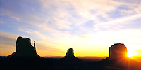 Sunrise at Monument Valley.
