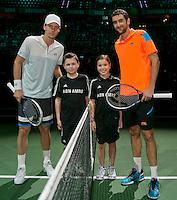Rotterdam, The Netherlands. 16.02.2014. Tomas Berdych(TSJ) and Marin Cilic(KRO) ABN AMRO World tennis Tournament<br /> Photo:Tennisimages/Henk Koster