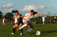 Western New York Flash defender Brittany Taylor (13) and Sky Blue FC forward Kelley O'Hara (19). The Western New York Flash defeated Sky Blue FC 3-0 during a National Women's Soccer League (NWSL) match at Yurcak Field in Piscataway, NJ, on June 8, 2013.
