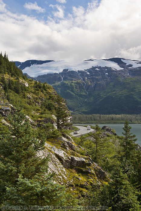 Road from Portage to Whittier, southcentral, Alaska.