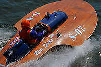 """Kevin Klosterman, S-07 """"Blue Chip"""", 145 class hydroplane"""