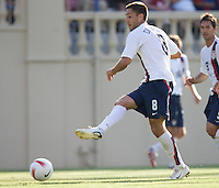Clint Dempsey takes a shot. The USA defeated China, 4-1, in an international friendly at Spartan Stadium, San Jose, CA on June 2, 2007.