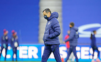 LE HAVRE, FRANCE - APRIL 13: Vlatko Andonovski and his USWNT warming up before a game between France and USWNT at Stade Oceane on April 13, 2021 in Le Havre, France.