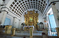 Havana Cuba Santeria Regla Church interior with African religion and catholic in Habana
