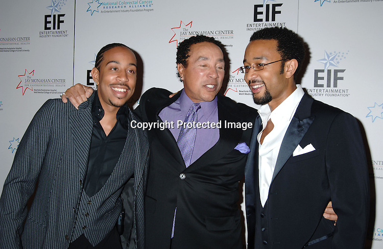 Ludacris, Smokey Robinson and John Legend ..at The Entertainment Industry Foundation National Colorectal Cancer Research Alliance and The Jay Monahan Center for Gastrointestinal Health Hollywood Meets Motown Benefit on March 15, 2006 at The Waldorf Astoria Hotel. ..Robin Platzer, Twin Images