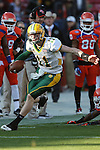 North Dakota State Bison quarterback Carson Wentz (11) in action during the FCS Championship game between the North Dakota State Bison and the Sam Houston State Bearkats at the FC Dallas Stadium in Frisco, Texas. North Dakota defeats Sam Houston 39 to 13..