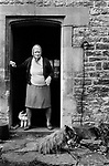 1970s Britain UK. Village life 1975 The Cotswolds, Upper Slaughter, Gloucestershire  Lower and Upper Slaughter are twin villages on the River Eye and are know as The Slaughters.