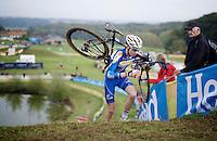 European U23 Champion Michael Vanthourenhout (BEL/Sunweb-Napoleon Games) in the lead<br /> <br /> GP Mario De Clercq 2014<br /> Hotond Cross<br /> CX BPost Bank Trofee - Ronse